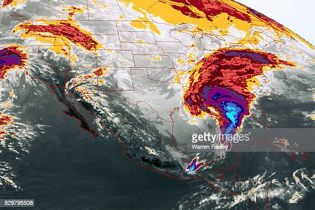 digital image of storms over north america - meteorology stock pictures, royalty-free photos & images