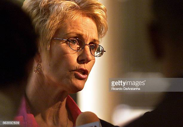 Digital Image taken on Wednesday 8/22/2001 Ventura CA – Photo by ^^^/LAT –– Chief Deputy District Attorney Lela Henke–Dobroth in the hallway of...