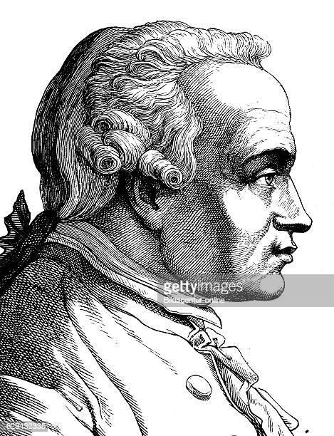Digital improved image of immanuel kant 1724 1804 philosopher portrait historical illustration 1880
