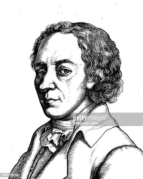 Digital improved image of johann elert bode 1747 1826 astronomer portrait historical illustration 1880