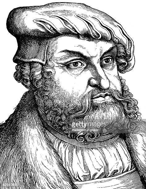 Digital improved image of johann the steadfast duke and elector of saxony 1468 1532 historical illustration portrait 1880