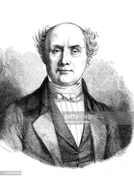 Digital improved reproduction Baron Charles Athanase Walckenae 17711852 a French civil servant and scientist Charles Athanase Walckenae ein...