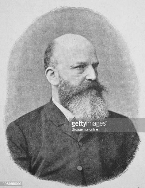 Digital improved reproduction, Georg Moritz Ebers, 1837 - 1898, German Egyptologist and novelist / Georg Moritz Ebers, deutscher Ägyptologe und...