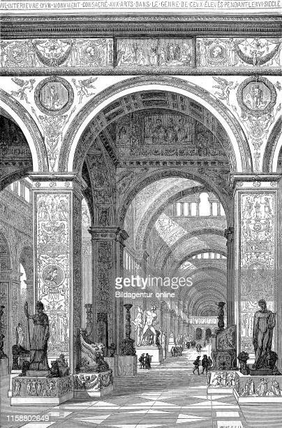 Digital improved reproduction in the museum of the Louvre Paris France im Museum des Louvre Frankreich from an original print from the year 1855