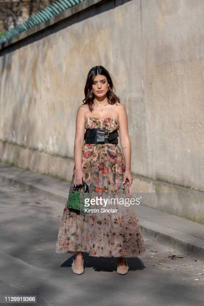Digital influencer Aida Domenech wears all Dior on February 26 2019 in Paris France