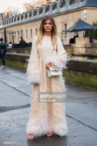Digital Influencer and creative director Lala Trussardi Rudge wears all Valentino on March 01, 2020 in Paris, France.