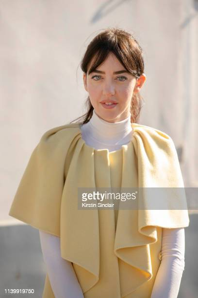 Digital Influencer and founder of SDR Samantha de Reviziis wears an Albino Teodoro dress on February 26 2019 in Paris France