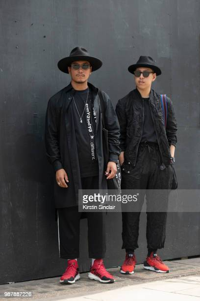 Digital Influencer and Photographer Eshan Kali wears Y3 trainers jacket and bag Laird hat Komono sunglasses and Adidas trousers with Creative...