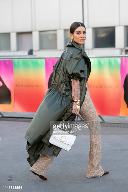 Digital Influencer Camila Coelho wears all Chloe on February 28 2019 in Paris France