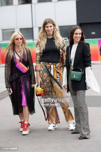 Digital Influencer Charlotte Groeneveld wearing Chloe with Model and fashion consultant Veroinka Heilbrunner wearing Chloe with a Nike T shirt and...
