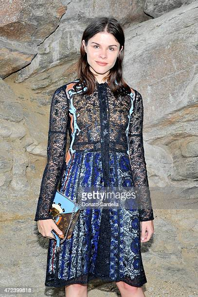 Digital influencer Emily Weiss attends the Louis Vuitton Cruise 2016 Resort Collection shown at a private residence on May 6 2015 in Palm Springs...