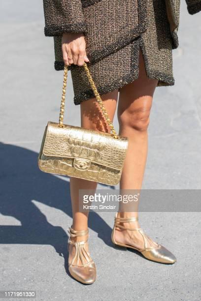 Digital influencer Gala Gonzalez wears all Chanel on July 02, 2019 in Paris, France.