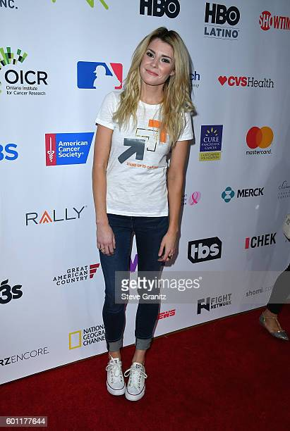 Digital influencer Grace Helbig attends Stand Up To Cancer 2016 at Walt Disney Concert Hall on September 9 2016 in Los Angeles California
