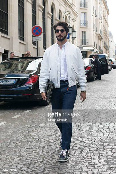 Digital Influencer Kadu Dantas wears all Dior on day 4 of Paris Collections Men on June 25 2016 in Paris France Kadu Kantas