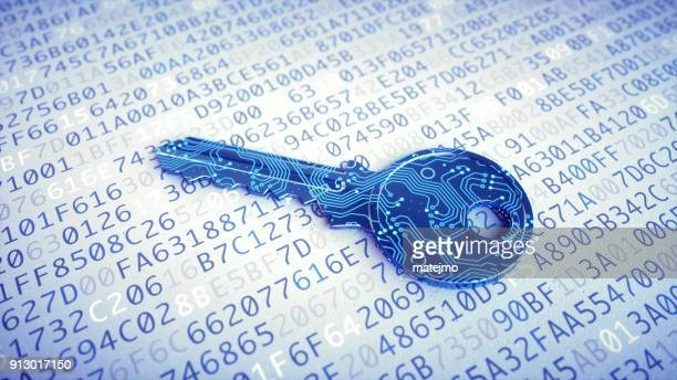 digital key macro on encrypted data - privacy stock pictures, royalty-free photos & images