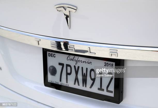 A digital license plate made by Bay Area company Reviver Auto part of a pilot project with the state Department of Motor Vehicles is displayed on...