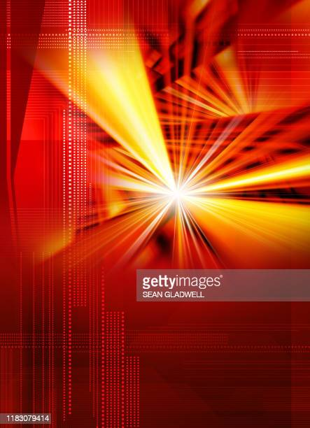 digital light burst - zoom background stock pictures, royalty-free photos & images