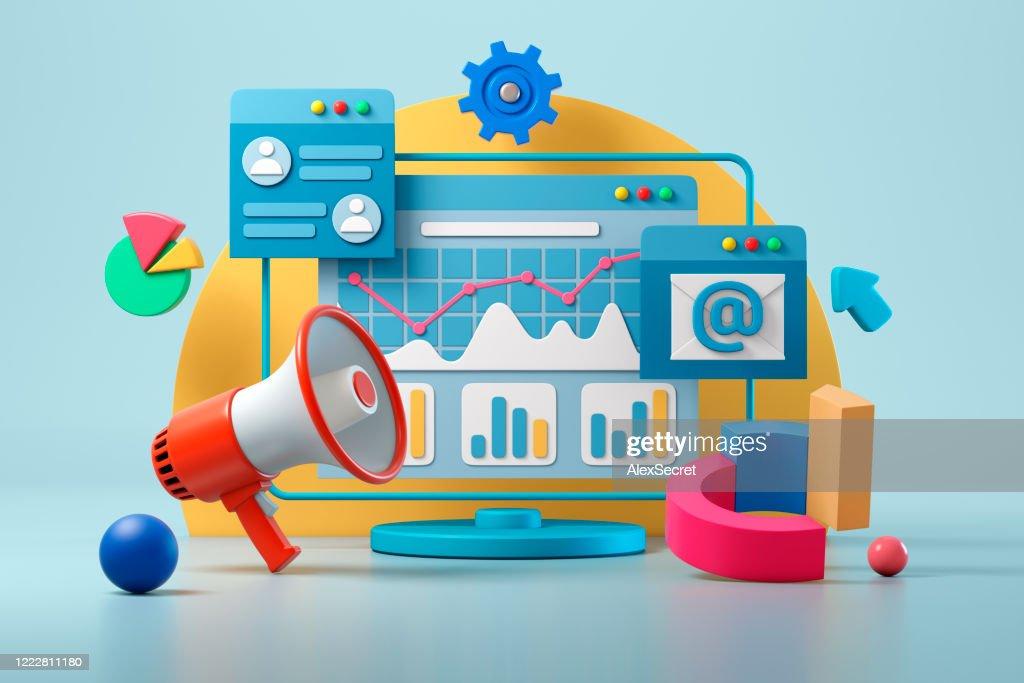 Marketing digital : Foto de stock