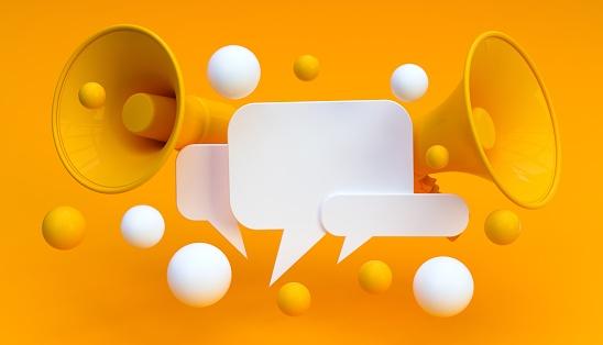 Digital Marketing Social Media Megaphone Concept 1145423719