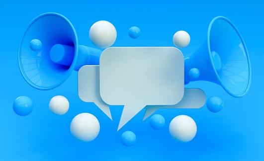 Digital Marketing Social Media Megaphone Concept 1145423744
