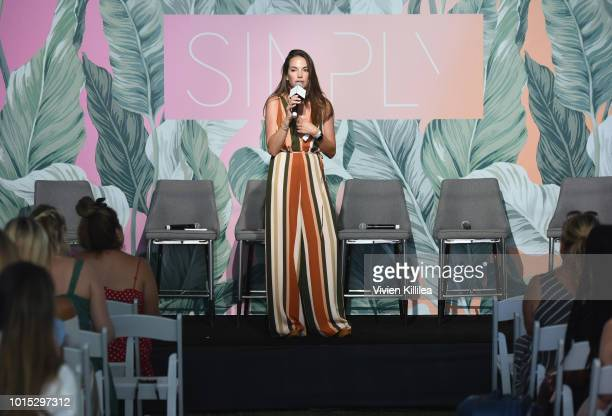Digital Marketing Specialist Katie Rattray speaks onstage during the SIMPLY LA Fashion Beauty Conference Powered By WhoWhatWear at The Americana at...