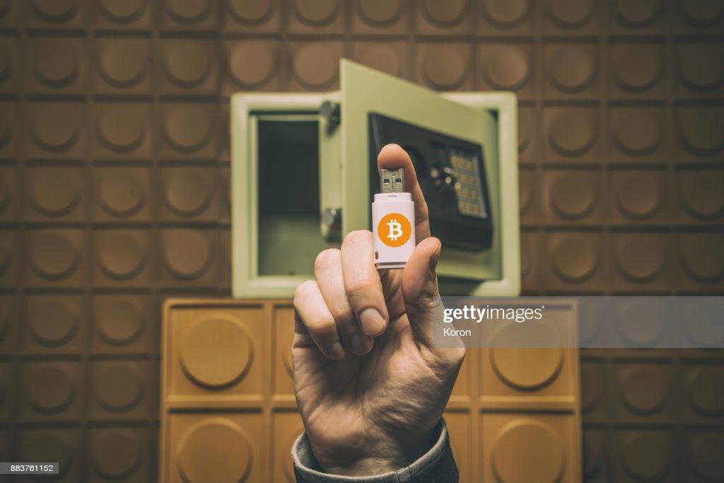 Digital money concept, future of money, digital currency, Bitcoin : Stock Photo