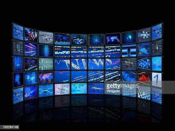 Digital monitors in a television studio