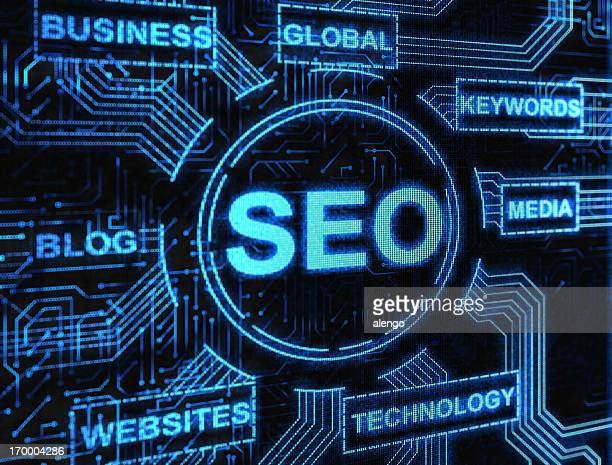 Digital network of SEO and related internet keywords