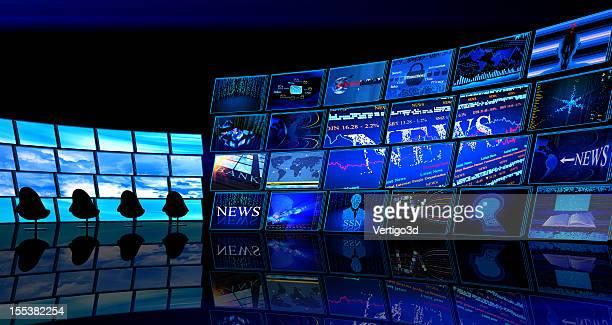 Chambre studio de télévision numérique de News