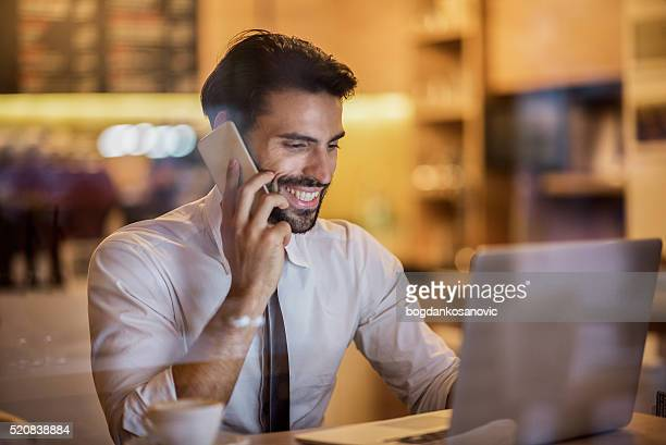 Digital nomad talking on the phone