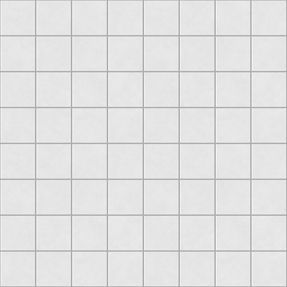 Digital non-realistic seamless white tile pattern 627129040