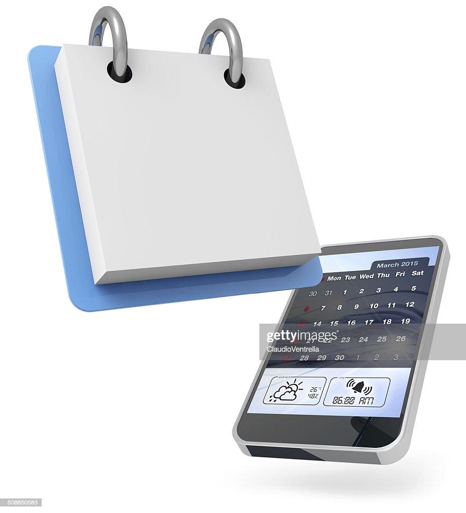 digital personal agenda : Stock Photo
