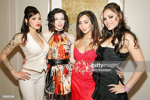 Digital Playground's Adrianna Lynn Stoya Katsuni and Shay Jordan all dressed up and ready for the 2008 AVN Awards Show at the Venetian Casino on...