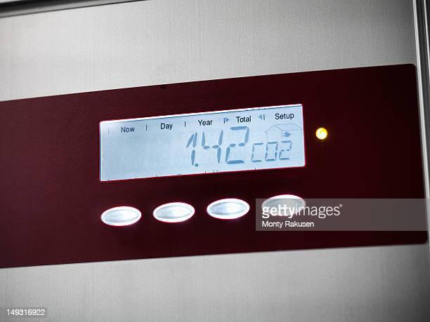 Digital reading of solar energy control panel