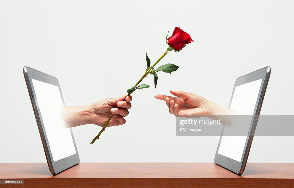 Digital Romance : Stock Photo