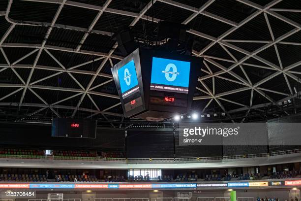 digital scoreboard in court - scoring stock pictures, royalty-free photos & images