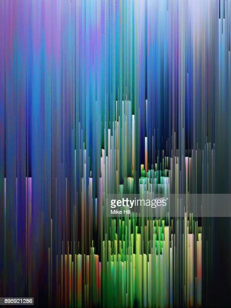 digital screen interference pattern - glitch art stock photos and pictures