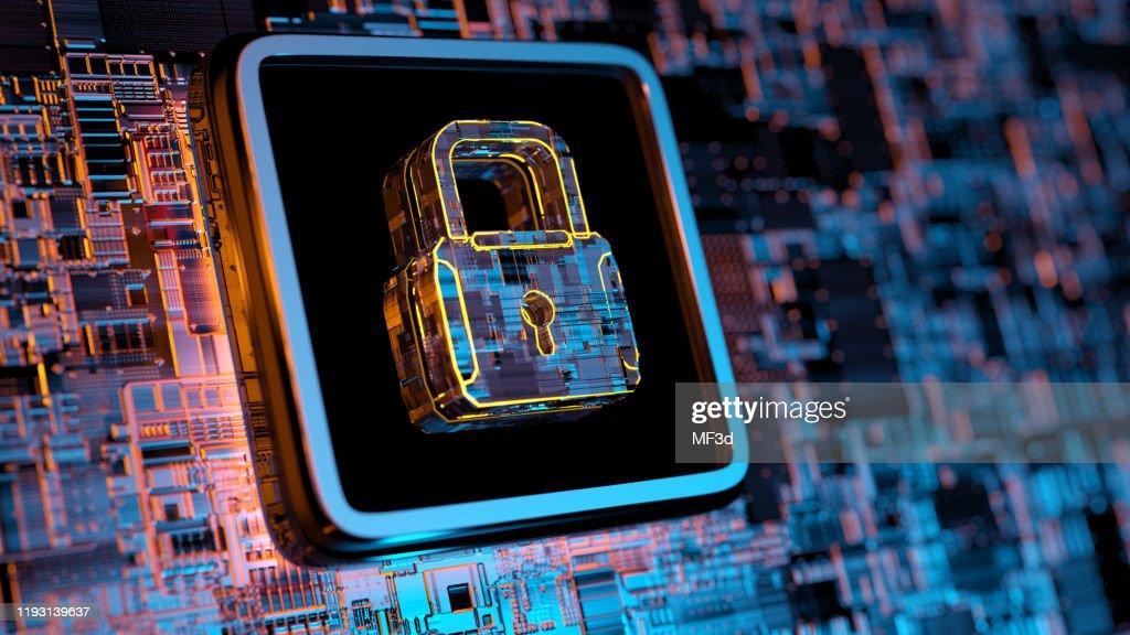 Digital security concept : Stock Photo