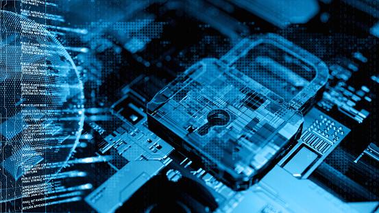 Digital security concept 869149492
