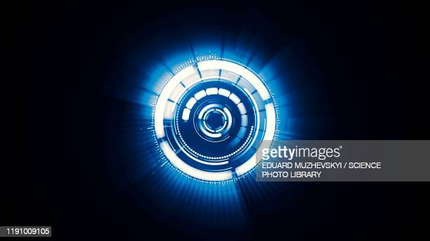 digital security, conceptual illustration - eye stock pictures, royalty-free photos & images