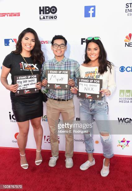 Digital Show Participant Nick Wilkins with sisters Brittany Wilkins and Ashley Wilkins attends the sixth biennial Stand Up To Cancer telecast at the...