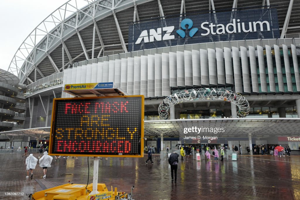 Rugby League Fans Gather In Sydney For The 2020 NRL Grand Final : News Photo