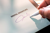 Digital Signature Concept with Tablet and Stylus Pen