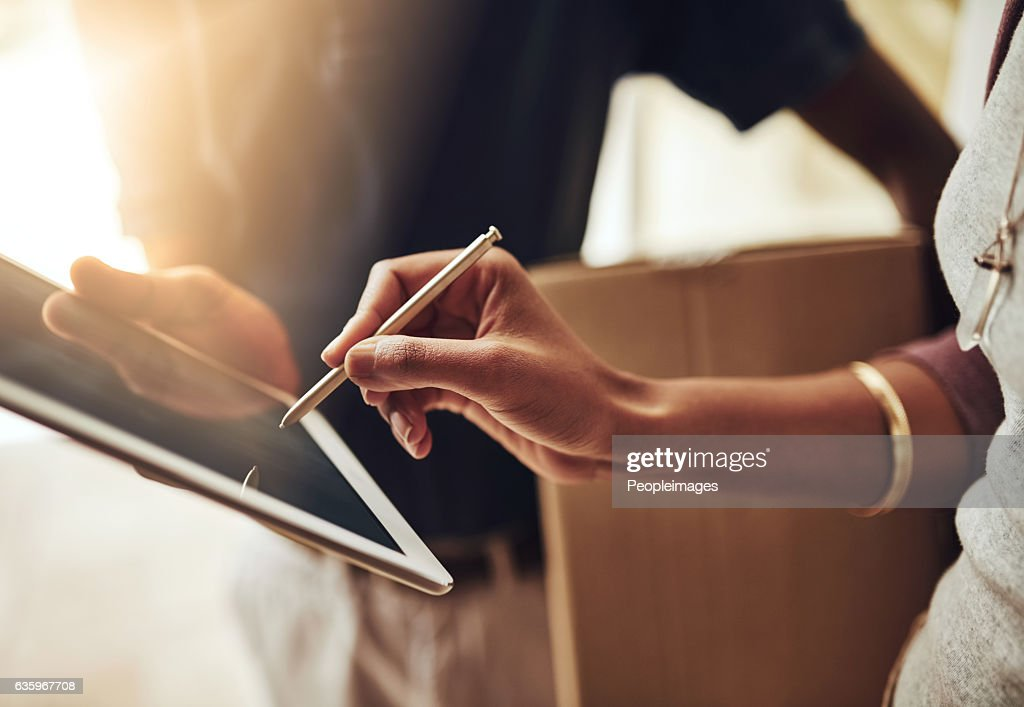 Digital signatures are the way to go : Stock Photo