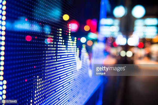 Digital stock market chart display