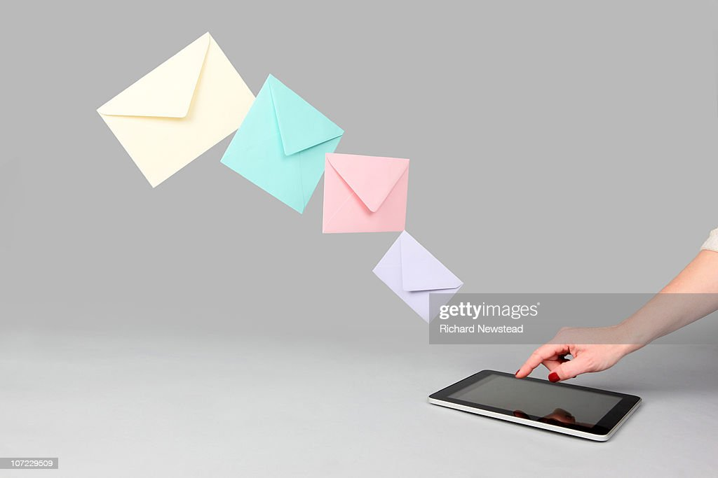 Digital Tablet Email : Foto de stock