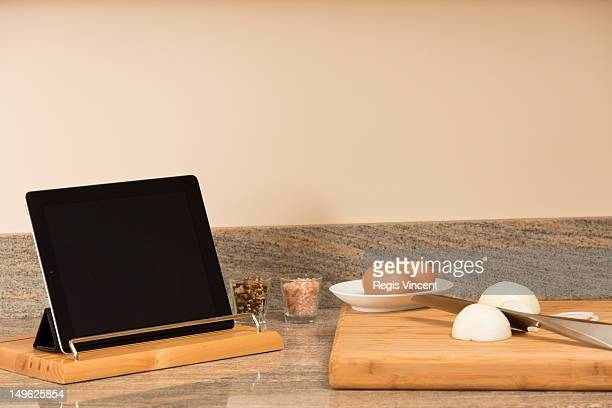 Digital tablet in the kitchen