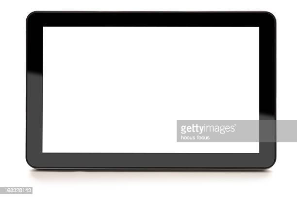 digital tablet isolated on white - liquid crystal display stock pictures, royalty-free photos & images