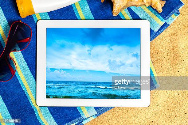 Digital Tablet on Beach