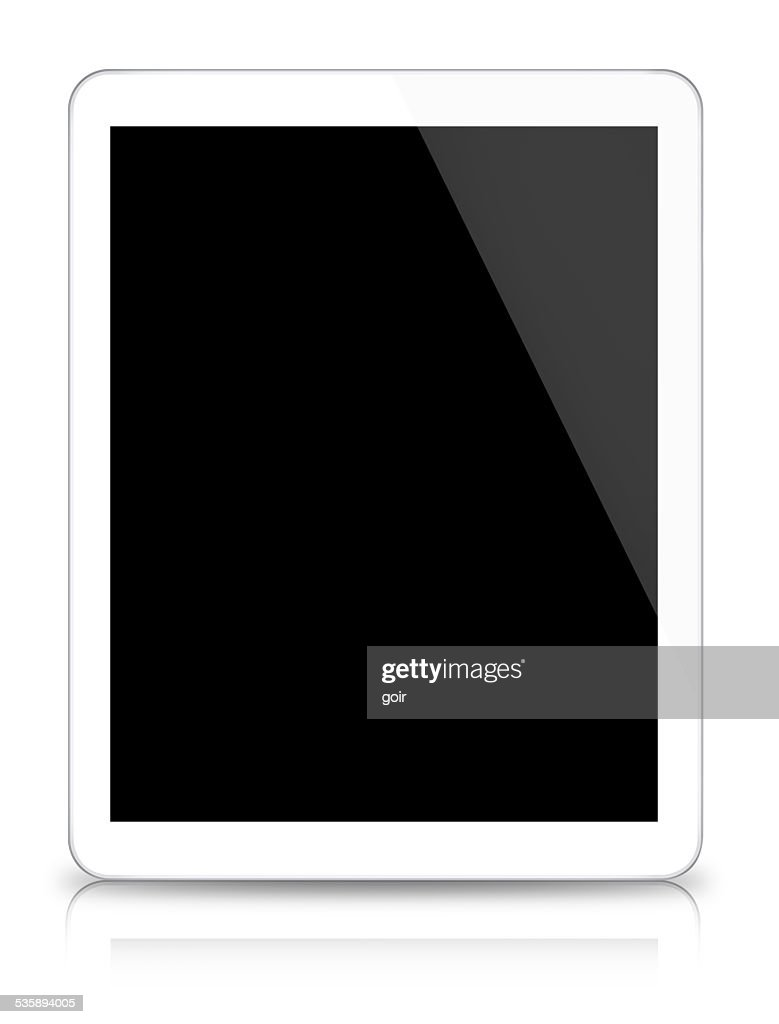 Digital tablet on white background : Stock Photo